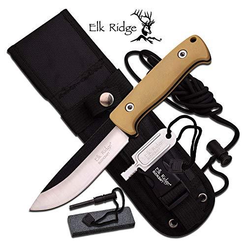 ELK RIDGE Erwachsene ER-555TN Taschenmesser, Mehrfarbig, M