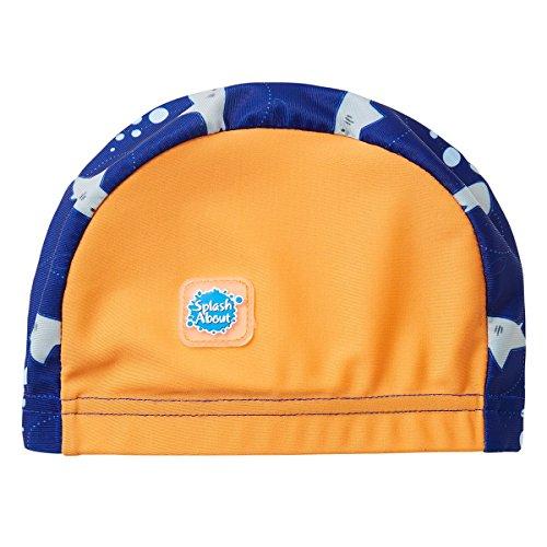 Splash About Swimming Hat, Cappello da Nuoto. Unisex-Bimbi 0-24, Squalo Arancione, 0-18 Mesi