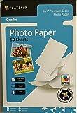 6 x 4 Premium-Fotopapier, Grafix Platin, 220 g / m² Glanz, 50 Blatt, Größe 152mm x 102mm