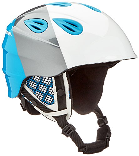 ALPINA GRAP 2.0 JR. Skihelm, Kinder, white-silver-blue, 51-54