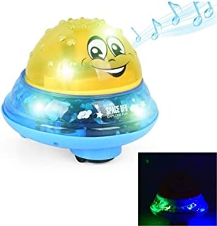 Sprinkler Ball Toy,Baby Spray Water Bath Toy,2 in 1 Bath Fountain Toy Spray Water Baby Bathtub Bath Ball Toy with Music & Lamp Electric Automatic Induction Water Game Toy Birthday  Boys Girls