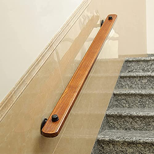 CCTC Stair Railing Wooden Handrail-30-600 cm, Corridor Anti-Slip Stair Railing Support Rod, Loft Villa Indoor and Outdoor Wall Stair Handrail Kit, Suitable for Elderly/Children (Size : 16ft/480cm)