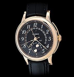 L.Leroy Men's Watch Osmior 18K Rose Gold Moonphase LL103/2 image
