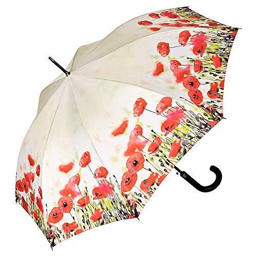 VON LILIENFELD paraplu automatisch dames bloemen bloemen, Klaprozen (meerkleurig) - 5794A