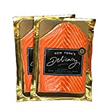 New York's Delicacy Natural Smoked Salmon Nova - 2 x 0.5 Lb (1 Lb.) - Most Awarded, Pre-Sliced, Fully Trimmed Salmon - Kosher, Gluten Free, High in Omega 3 - 100% Natural Atlantic Salmon Fillets