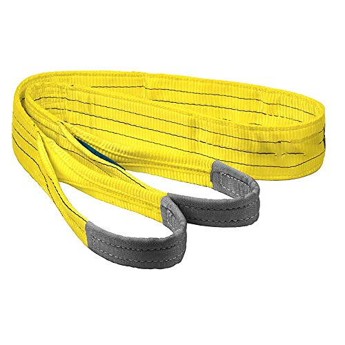 NeoMcc Gewebeschlaufen Sling Straps WLL 3 Tonne gelbe Hebenschlinge Industrie Duplex Polyester Gurtband Heben Ladungsringgurt Streifen 1-10mtr Heben Sie Schlinge Gurte (Color : Yellow, Size : 1m)