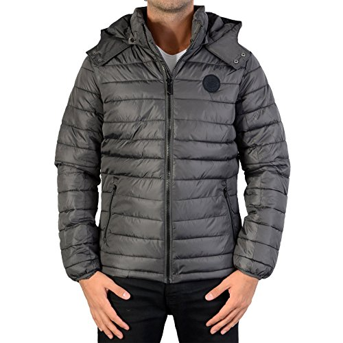 Kaporal Benti - Doudoune - Manches Longues - Homme - Gris (Iron) - Small (Taille Fabricant : S)