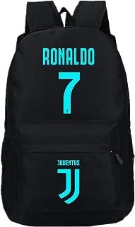 Juventus Fans Backpack - #7 Ronaldo Juventus Rucksack for Back to School Noctilcent Bag