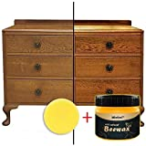 Wood Seasoning Beewax, 2020 Beeswax Wood Furniture Cleaner and Polish for Wood Doors, Tables, Chairs, Cabinets
