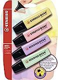 Stabilo Boss Original - Pack de 4 marcadores, tinta multicolor