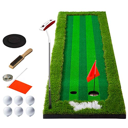 Why Choose lqgpsx Golf Putting Mat Portable with Ball and Putter, Indoor Golf Training Mat Putting G...