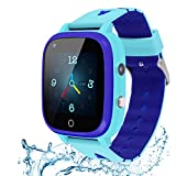 Beacon Pet Kids Smartwatch, 4G WiFi GPS LBS Tracker SOS Emergency Call Video Chat Children Smartwatches, IP67 Waterproof Phone Watch for Boys Girls, Compatible with Android/iPhone iOS (Blue)