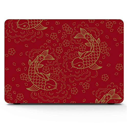 MacBook Pro Case Chinese Pattern Koi Fish MacBook Pro 15'(NO CD-ROM,with Retina Display) Plastic case,/A1398