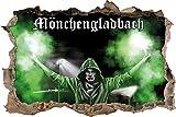Ultras MönchengladbachBengalo, 3D Wandsticker Format: