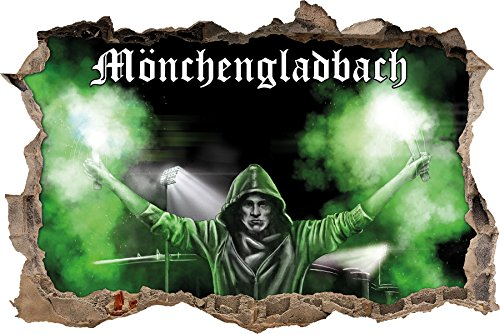 Ultras MönchengladbachBengalo, 3D Wandsticker Format: 92x62cm, Wanddekoration