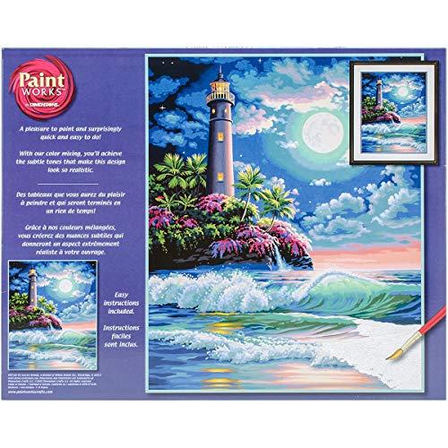 Dimensions PBN 16x20 LighthusMoonlight, None