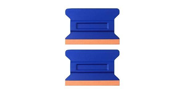 Pack of 2 Car Vinyl Tint Squeegee Durable Car Bondo Decal Vinyl Wrap Window Tint Application Tool Set of Soft Felt for Edge Scraper 4.33 Inch