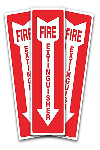 Fire Extinguisher Arrow Signs 3 Pack