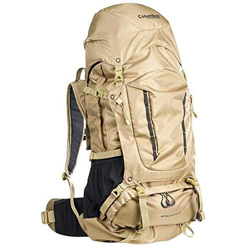 COLUMBUS Sac à Dos Randonnée Appalachian 65 Sac à Dos Trekking Camping Alpinisme Voyage 65L Couleur Kaki Escalade