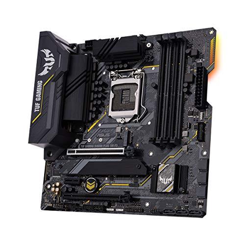 ASUS TUF Gaming B460M-PLUS (WI-FI) Mainboard Sockel 1200 (Mikro ATX Gaming-Mainboard, 8 Leistungsstufen, Intel WiFi 6, HDMI, DisplayPort, SATA 6Gbit/s, USB-3.2-Gen-1-Anschluss Aura-Sync)