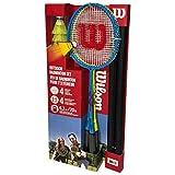 Wilson Badminton Kit Raqueta, Adultos Unisex, Blue/Yellow (Multicolor), 3
