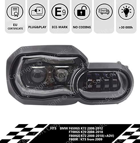 LED Scheinwerfer B M W F650/F700/F800 GS + ECE-Homologation