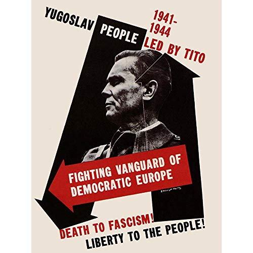 Wee Blue Coo Propaganda War WWII USA Yugoslavian Marshal Tito Anti Fascist Unframed Wall Art Print Poster Home Decor Premium