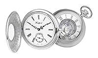 シルバーAlbert半分ハンターポケット腕時計byウッドフォード