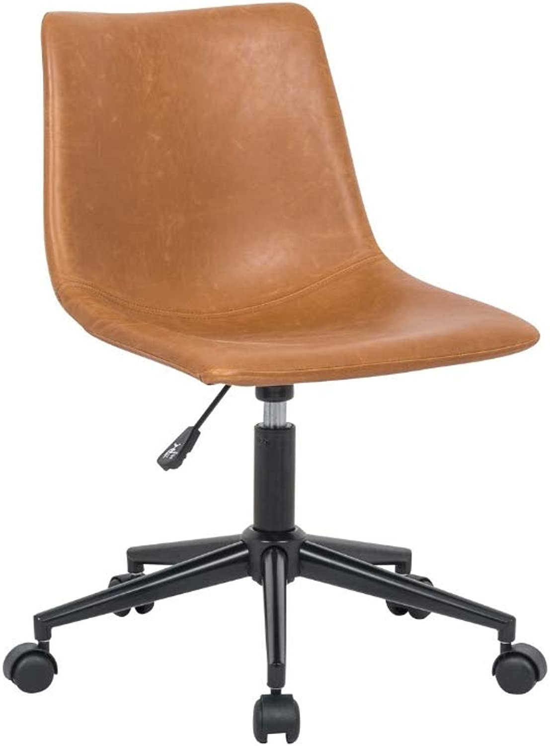 silver Import Pat Office Chair in tan, Office Chair, Eames Style