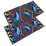 Sombreros al aire libre, 2 piezas/paquete Patrón de peces multifuncional Protección solar Ultravioleta Sombreros Pañuelo Pañuelo Pañuelo para la cabeza Ideal para exteriores(14*15*3cm-# 8)