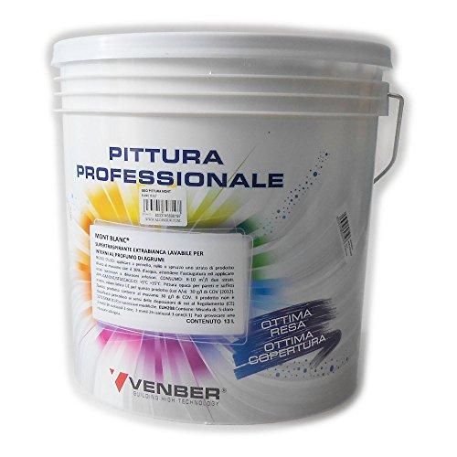Geohydrica MONT BLANC 13lt idro pittura acrilica alta copertura lavabile extra bianca per interni