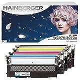 Hainberger - Juego de 4 cartuchos de tóner con chip para impresora HP W2070A, 117A para Color Laser 150, 150A, 150NW, I MFP 178, 178NW, 178NWG 179, 179FNG 179FNW 179FWG