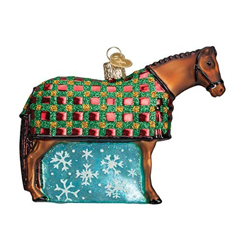 Old World Christmas Snowflake Horse Glass Blown Ornament by Old World Christmas