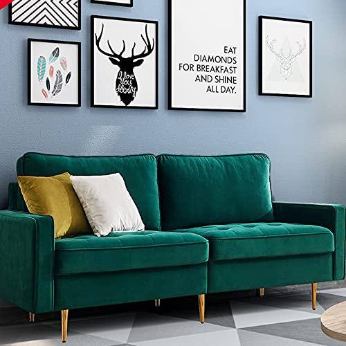 Schlafsofa Eckcouch Schlafcouch Ecksofa Schlafsofa Modern Sofa Sessel Samt Sofa Doppelsitz Für Studiengast- Und Wohnzimmer, 180cm (smaragd)