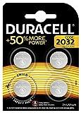 Duracell Pilas botón de Litio 2032 de 3v, Paquete de 4