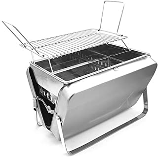 Thick Stainless Steel Charcoal Barbecue Grill Portable Folding Bbq Charcoal Grill Smoker Grill For Outdoor Cooking Camping...