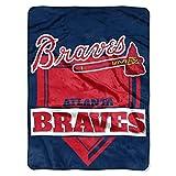 Northwest MLB Atlanta Braves Royal Plush Raschel Throw, One Size, Multicolor