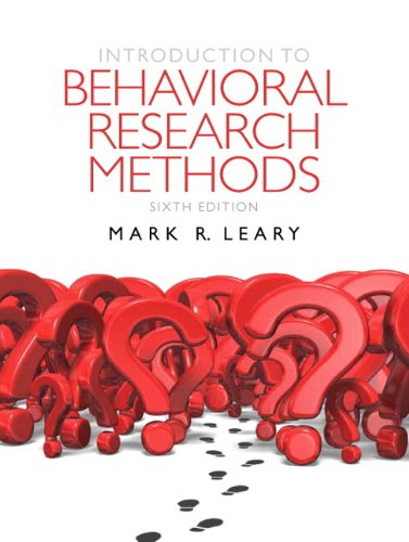 Introduction to Behavioral Research Methods Plus MyLab Search with eText -- Access Card Package (6th