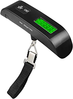 Pocket Electronic Scale 50Kg Portable Portable Electronic Luggage Scale Portable Home Travel Scale Lcd Display - Black