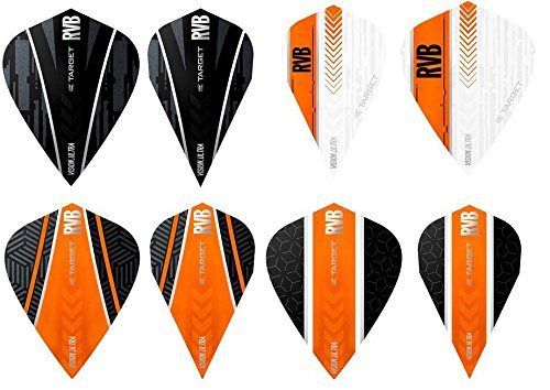 TARGET 5 x gemischt Sets of RVB Raymond Van Barneveld Vision Ultra Kite Vapor Dart Flights inkl. Empire Checkout Card