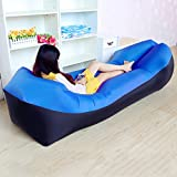 ONETWO Portable Fast Inflatable Lounger,Outdoor Damp-proof Anti-air Leaking Inflatable Lounger Sleeping Bag For Beach Traveling Camping Picnics & Music Festivals