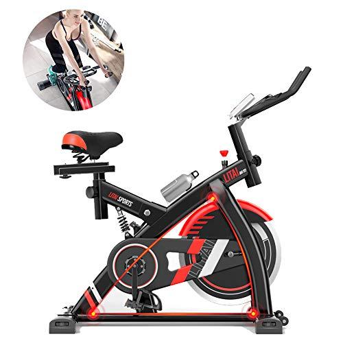 Xb Bicicleta De Ejercicio para Ciclismo Indoor, Bicicleta De Spinning, Sensores De Ritmo Cardíaco, Asiento Ajustable