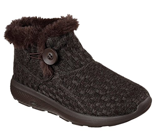 Skechers On the GO City 2 Cardie Womens Slip On Chukka Ankle Boots Chocolate 5.5