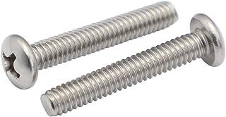 8-32 x 5/8 Pan Head Machine Screws, Full Thread, Phillips Drive, Stainless Steel 18-8, Machine Thread, Pack of 100