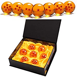 Monuary 7 Piezas Bolas Dragon Ball, Bolas de Dragón 1 a 7 Estrellas con Caja de Regalo, Coleccionables para Dragonball Z Regalo - Diámetro 4,3CM