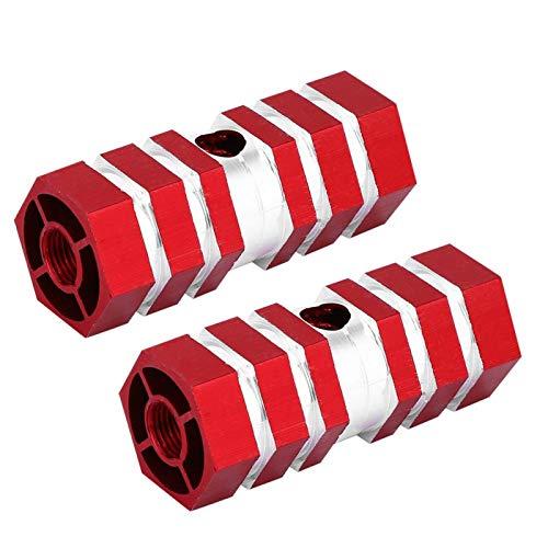 Emoshayoga Pedales de los pies Traseros Clavijas del Eje Trasero de la Bicicleta Clavijas del reposapiés del Eje para el Ciclismo Trasero(Red)