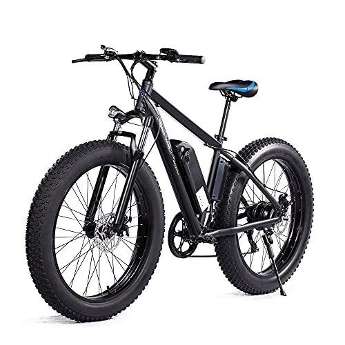 "Electric Bike Snow Bicycle 26"" Fat Tire Bike 500W 48V/12.5AH"