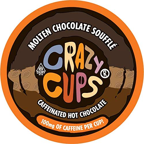 Crazy Cups, Molten Chocolate Souffle Caffeinated Hot Chocolate, 22 Count