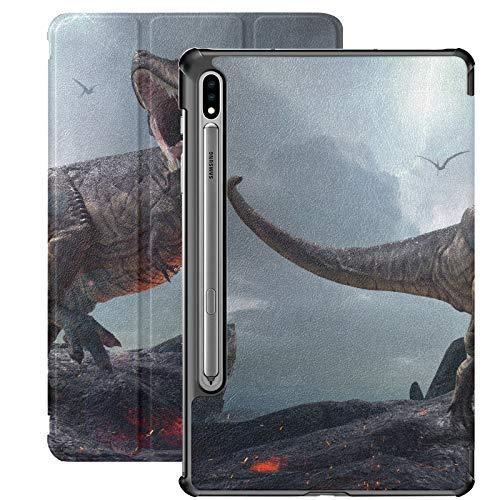Funda para Samsung Galaxy Tab S7 / s7 Plus Representación 3D King Dinosaurs Tyrannosaurus Rex Soporte Funda Trasera Compatible con Funda Samsung Galaxy S7 para Galaxy Tab S7 11 Pulgadas S7 Plus 12,4