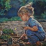 Xofjje Pintura por Números para Adultos y Niños_Retrato de niña_Dibujos para Pintar con Números_DIY Pintura al Óleo por Números Decoración del Hogar_40x50cm_Marco de Bricolaje